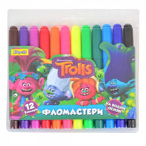 "Фломастеры 12 цветов Jumbo ""Trolls Dream"", фото 2"