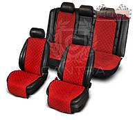 Чехлы CANTRA комплект на все сиденья с ушками ✓ цвет: красный