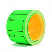 Ценник флюо TCBIL3525 4,00м, прямоугольный 160шт/рол с/н (зелёный)