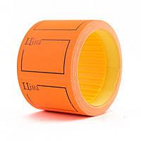 Ценник флюо TCBIL3525 4,00м, прямоугольный 160шт/рол с/н (оранжевый)