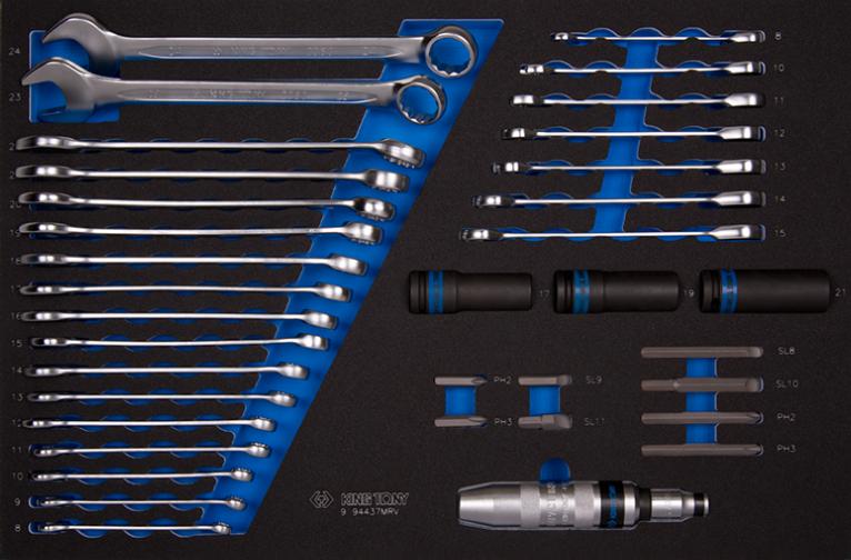 Набор инструмента комбинированный 37 предметов EVA ложемент