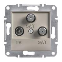 Розетка TV-SAT-SAT одинарная 1dB Бронза Schneider Asfora plus (EPH3600169), фото 1