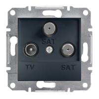 Розетка TV-SAT-SAT одинарная 1dB Антрацит Schneider Asfora plus (EPH3600171), фото 1