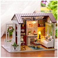 """DIY RoomBox. Кукольный домик, набор-конструктор """"Happy times"""" -  21*15.5*12.5 см"""