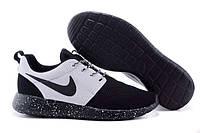 Жіночі кросівки Nike Roshe Run чорні з білим, фото 1