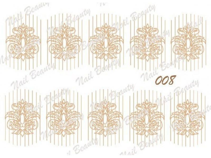 Трафарет для гель пасти для дизайну нігтів №8