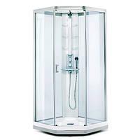 Душевая кабина IDO Showerama 9-5 сатин/прозрачное (48760-32-808) (дверь открывается направо)