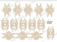 Трафарет для гель пасты для дизайна ногтей №31