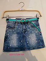 Джинсовые юбки на девочку оптом, Seagull, 134-164 р