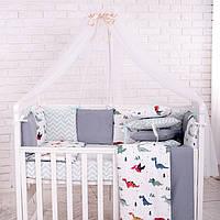 Комплект детского постельного белья Baby Design Премиум Dino синий