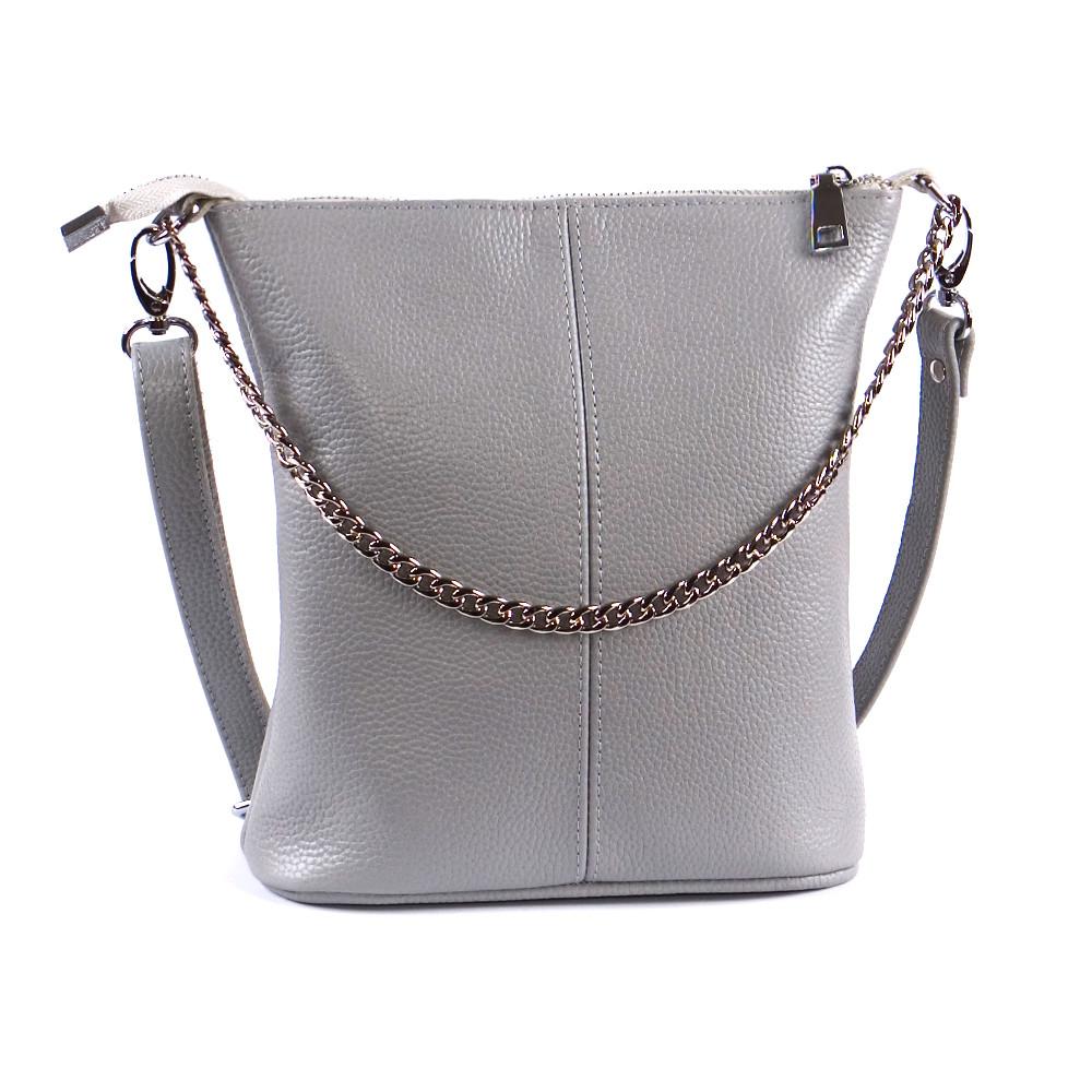 Женская сумочка кожаная 41 серый флотар 01410114