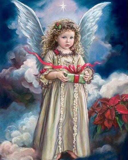 """Алмазная вышивка 50х40см - набор """"Сюрприз от ангела"""""""