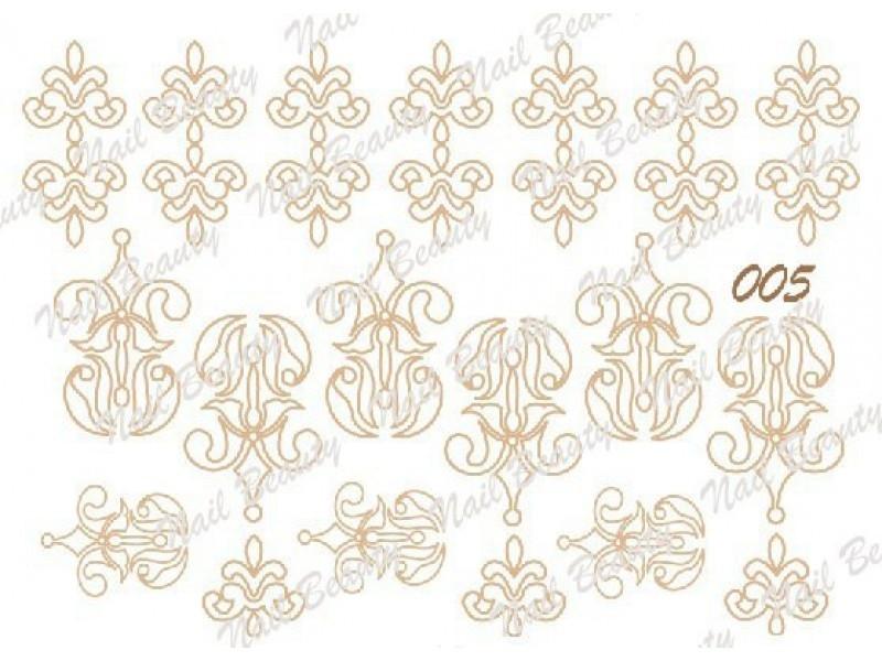 Трафарет для гель пасты для дизайна ногтей №05