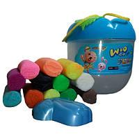 Пластилин для детей, 3 +, с формочкой 12 цветов