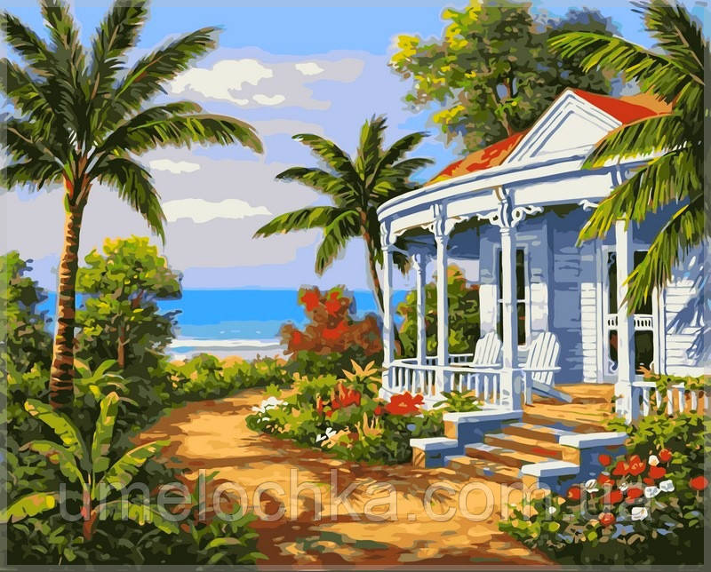 Картина по номерам на холсте Babylon Залив в тропиках
