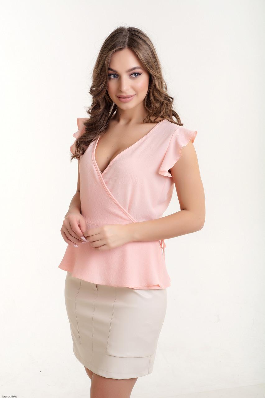 Женская стильная блуза с запахом