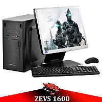 "Игровой ПК ZEVS PC1600 2 Ядра 6GB RAM + GTX 550Ti 1GB +Монитор 17"" +Клавиатура +Мышка!"