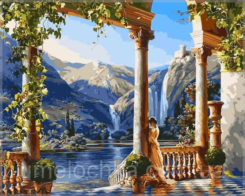 Картина по номерам на холсте Babylon Девушка у водопада