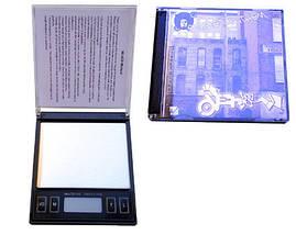 Оригинальные, весы Mini-CD 100г (6251),автоотключение, ювелирные / аптечные, функция тары, чехол из кожзама, фото 2