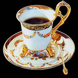 """Алмазная вышивка 40х40см - набор """"Кофе для королевы"""""""