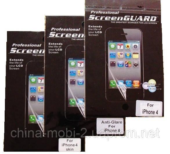 Защитная пленка iPhone 4 глянец,