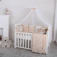 Комплект детского постельного белья Baby Design Жаккард бежевый (7 эл)