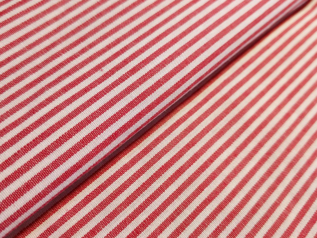 Коттон полоска 2 мм, красный