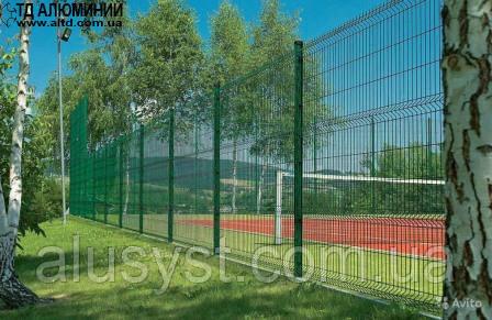 Секционный забор с полимерным покрытием 2,4х2,5 ЭКОНОМ