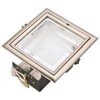 Светильник потолочный встраиваемый Brilum QUAD E матовый хром