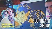 Портрет блестками на свадьбу от iluhinArt Звездная пыль золотой портрет