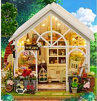 """DIY RoomBox. Кукольный домик, набор-конструктор """"Sunshine Greenhouse"""" - 22*19*17.5"""