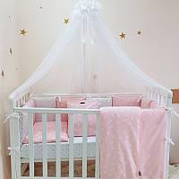 Комплект детского постельного белья Baby Design Премиум Кролики пудра (7 эл)