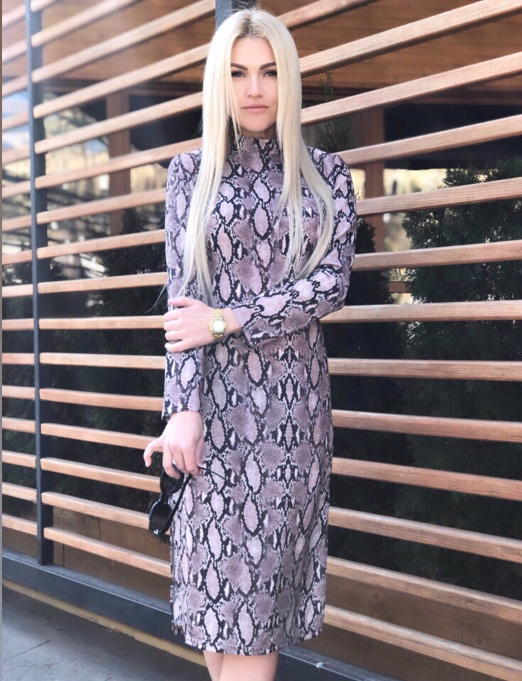 Платье женское миди