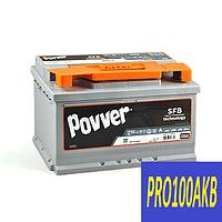 Автомобильный аккумулятор POVVER 75 Ач 750 А (0) R+