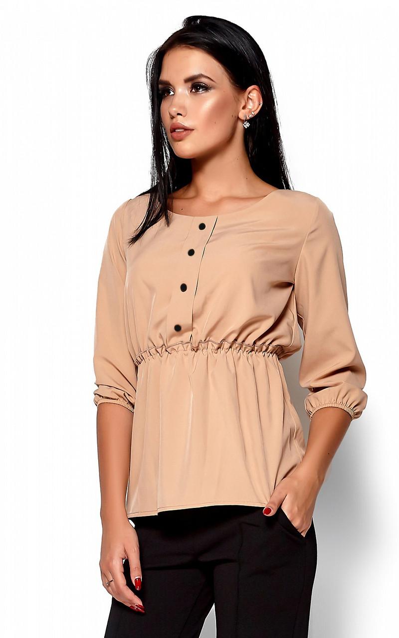 (S, M, L) Стильна жіноча бежева блузка Orlanda