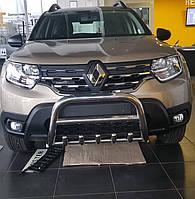 Защита переднего бампера Renault Duster 2018+ г.в. Рено Дастер, фото 1