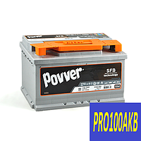 Автомобильный аккумулятор POVVER 78 Ач 830 А (0) R+