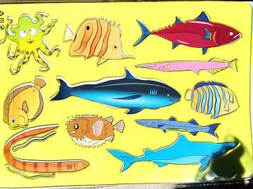 Трафарет неломайка 18см (морские животные и рыбы)