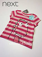 Детская футболка Next на девочку 6-9 мес. рост 74