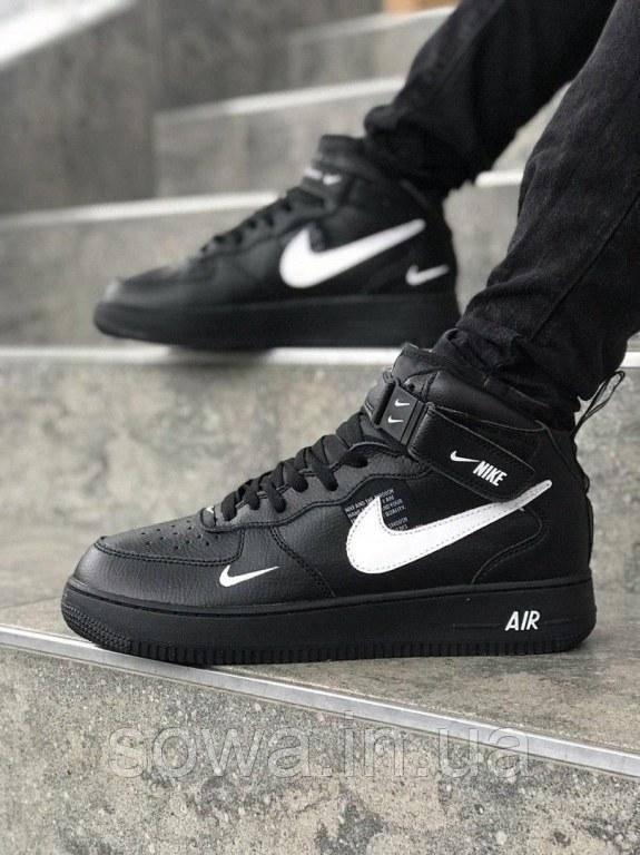 "✔️ Кроссовки Nike Air Force 1 Mid '07 LV8 ""Black"""