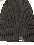 Чёрая мужская классическая шапка  с отворотом без флиса, фото 2