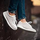 Мужские кроссовки South Classic white, замшевые белые мужские кроссовки, замшевые классические кеды, фото 2