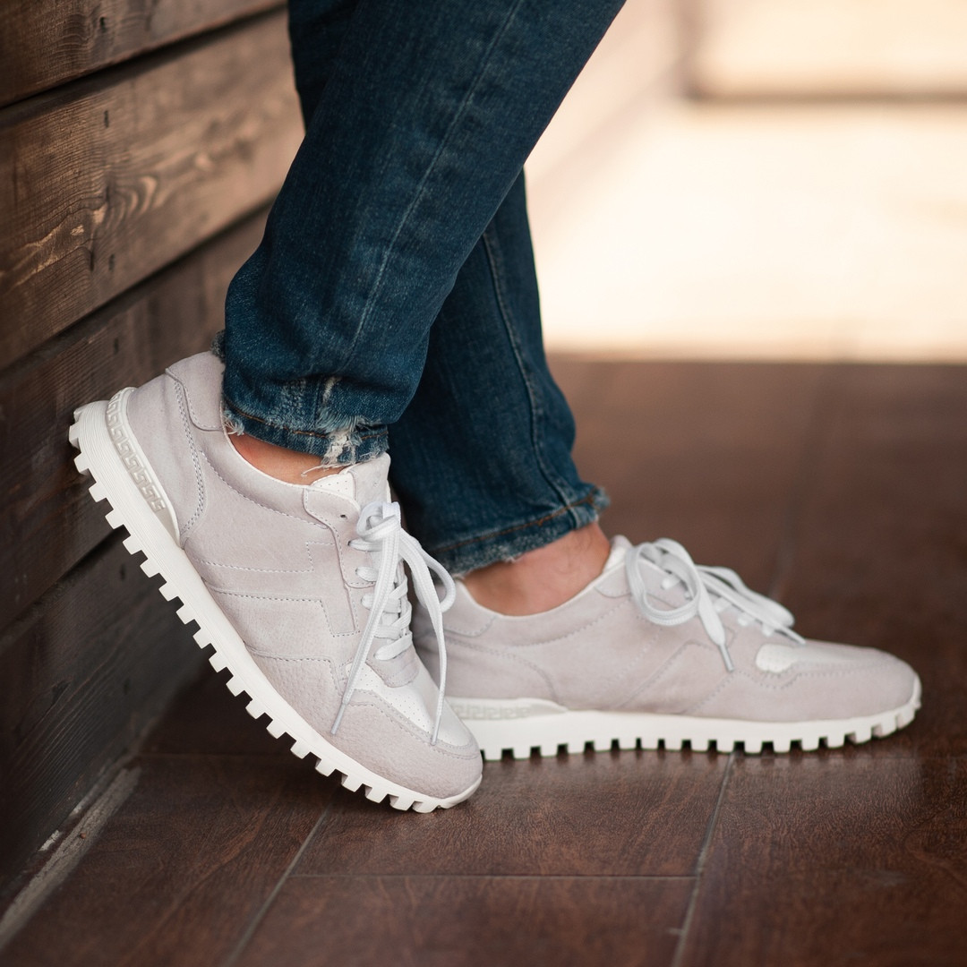 Мужские кроссовки South Classic white, замшевые белые мужские кроссовки, замшевые классические кеды