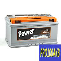 Автомобильный аккумулятор POVVER 100 Ач 950 А (0) R+