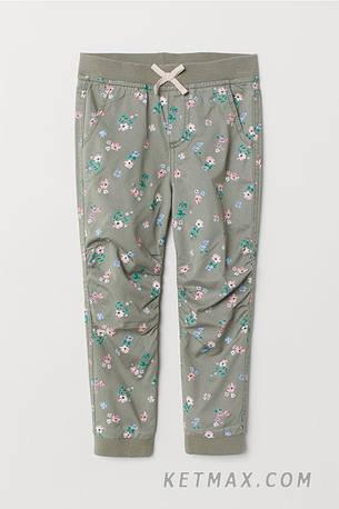 Поплиновые джоггеры H&M для девочки, фото 2