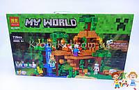 """Конструктор BELA 10471 My World """"Домик на дереве в джунглях"""" (аналог Lego Minecraft 21125), 718 деталей"""