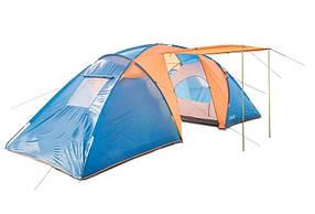 Туристическая палатка Coleman 1002 6-ти местная. 2-х слойная. Большой тамбур. Навес.