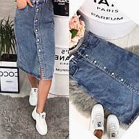 Юбка женская джинсовая миди  (Фабричный Китай) 538