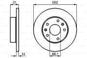 Гальмiвний диск ROVER  (0 986478991)