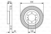 Гальмiвний диск TOYOTA  (0 986 479 A65)